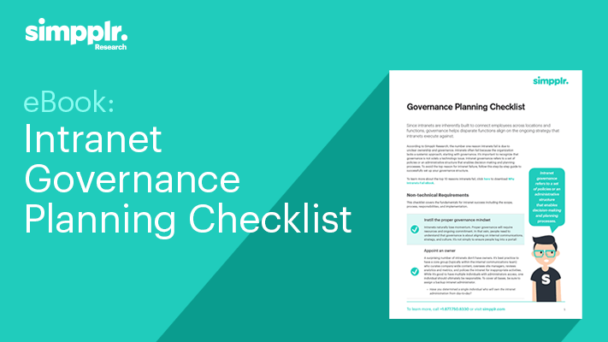 intranet governance checklist
